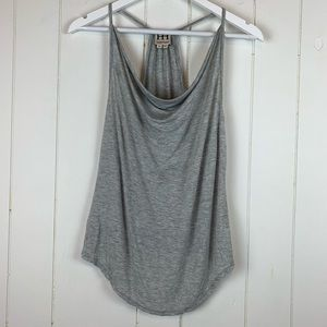 Haute Hippie Tank Top XS Gray Draping Neckline
